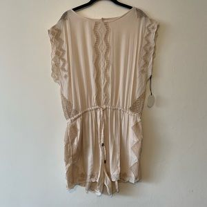 NWT! Tularosa Open Back Romper in Natural Pink